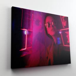 Roberto Vivancos Studio Poster Design - Neon Lights Girl Portrait